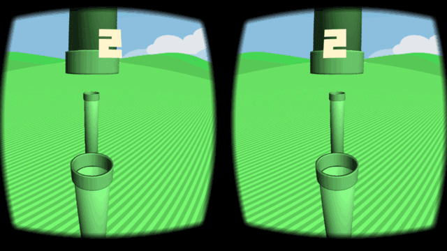VR Flappy for Google Cardboard2
