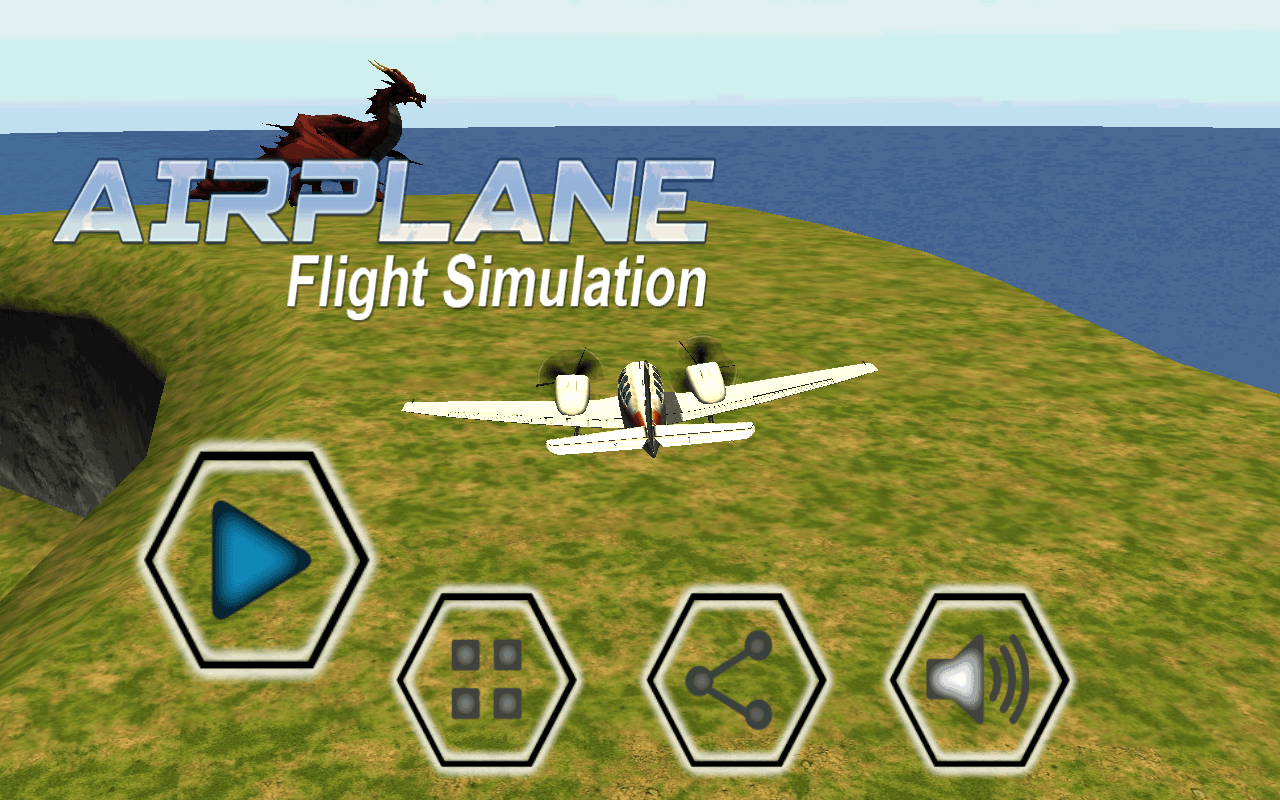 VR Airplane Flight Simulation
