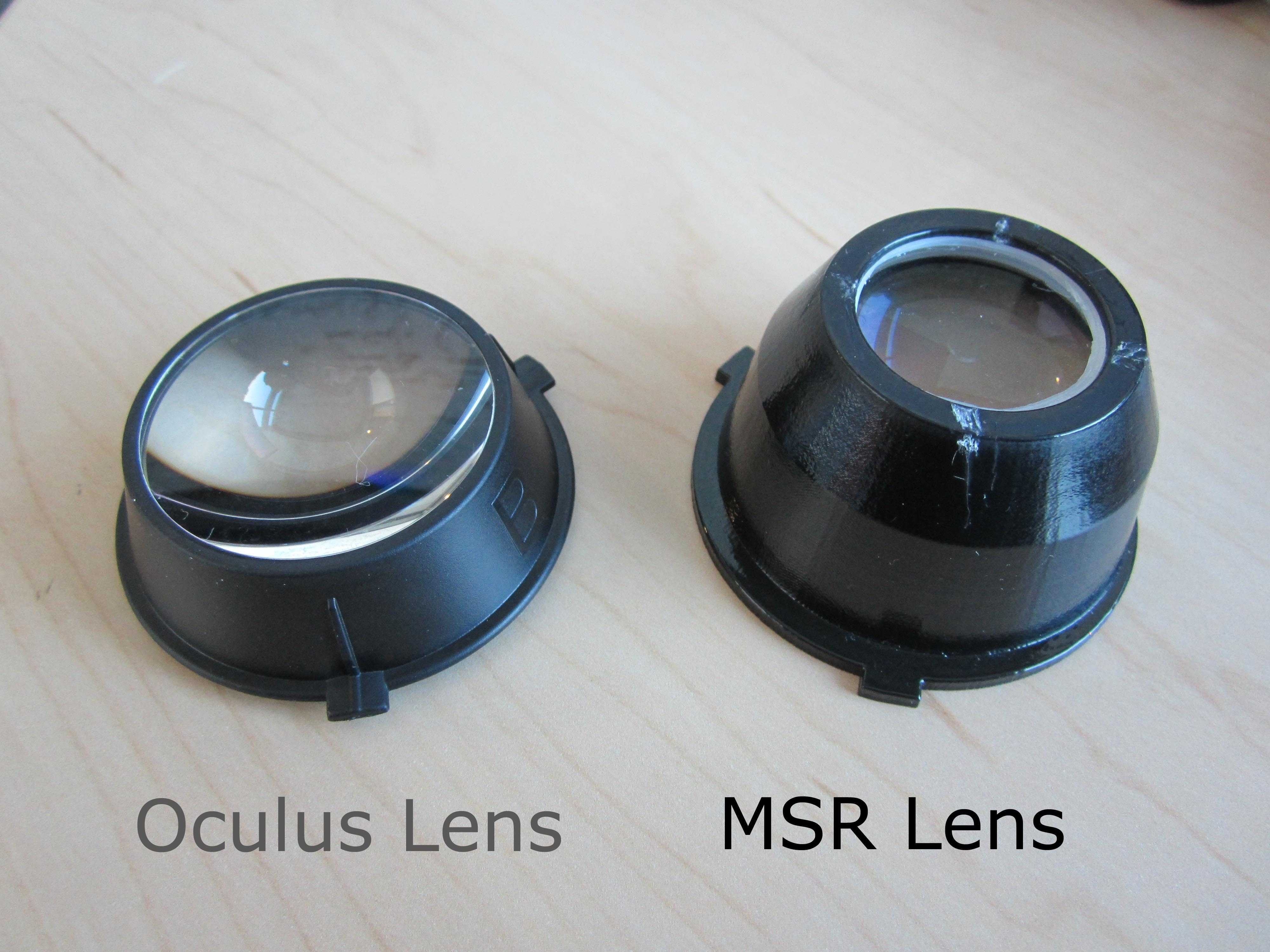 Microsoft made improved replacement lenses for the Oculus Rift
