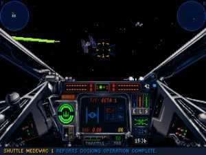 Screenshot from Lucas Arts Entertainment game of the year 1993 Star Wars: X-wing