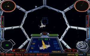 Screenshot from Lucas Arts 1994 hit Star Wars: Tie Fighter