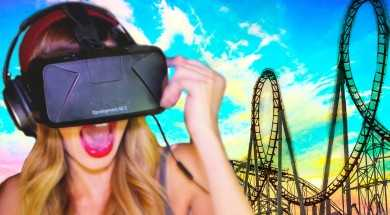 RUNNING on a VIRTUAL Roller Coaster | Oculus Rift DK2
