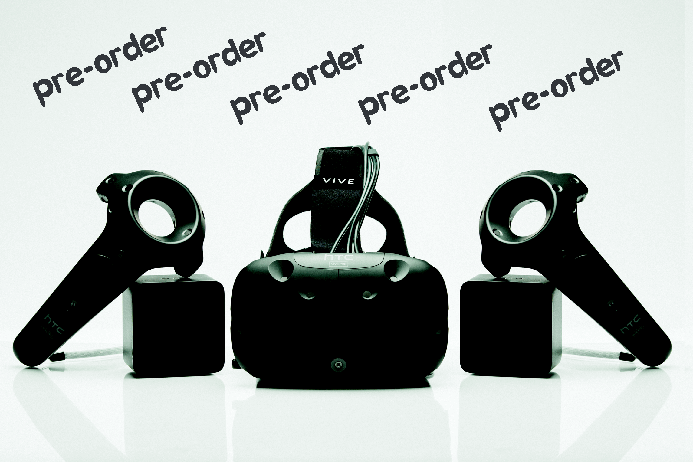 HTC Vive pre-orders on February 29