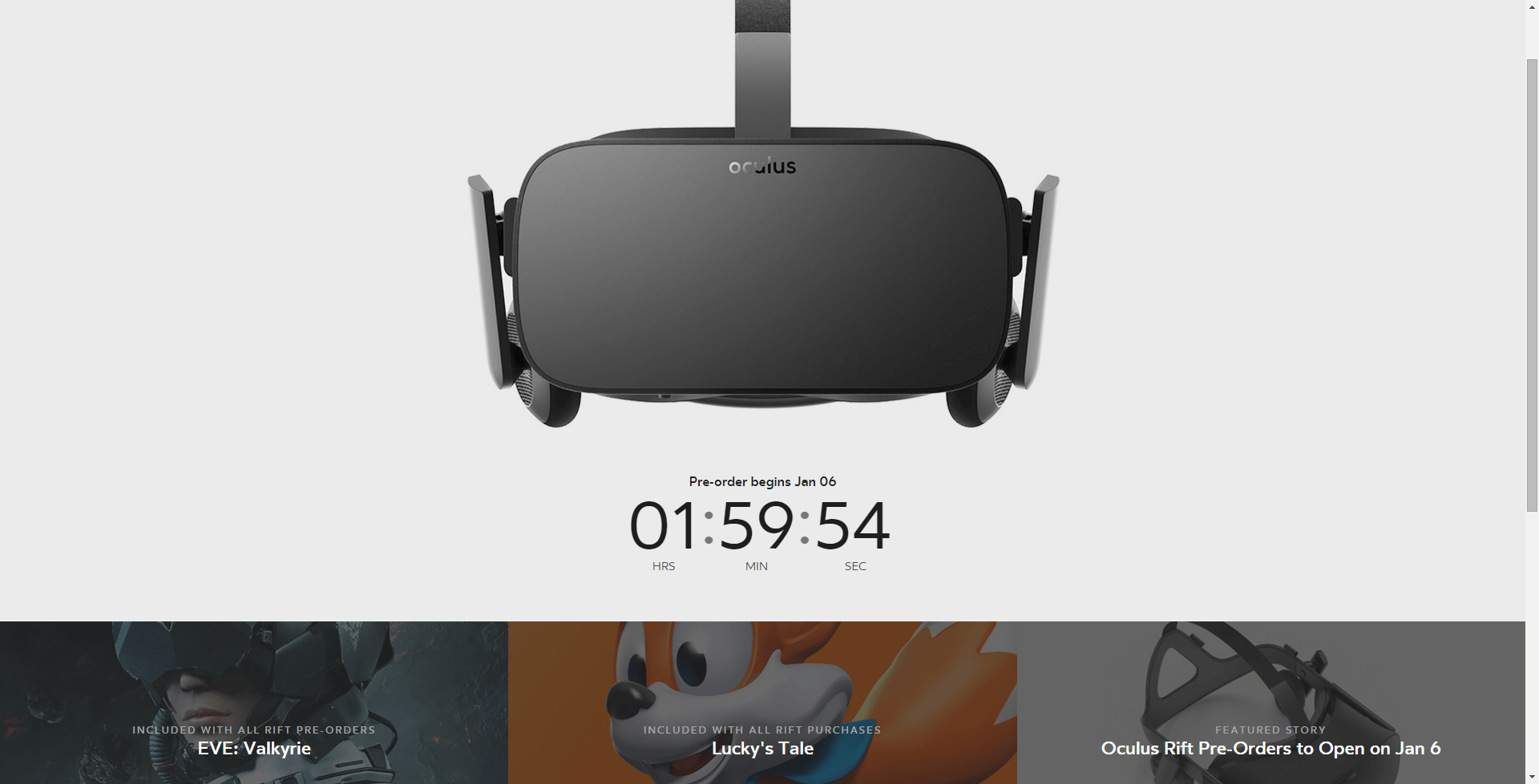 Just two hours to order an Oculus Rift!