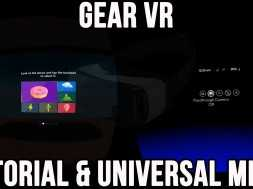 Gear VR: Tutorial and Universal Menu