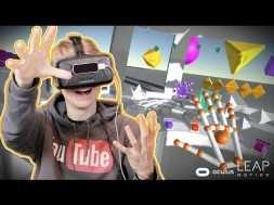 MAKE MUSIC WITH YOUR HANDS! | Geometric VR (Oculus Rift DK2 + Leap Motion Orion)
