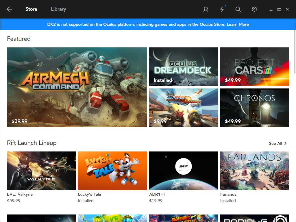 Oculus Store launched