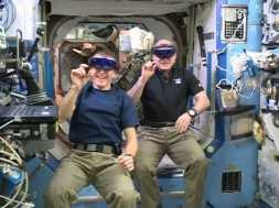 Scott Kelly and Tim Peake test HoloLens on Space Station