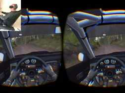 ZNousn1 Playing Dirt Rally on his self made motion sim in VR!