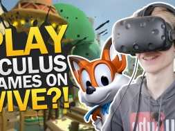 PLAYING OCULUS RIFT GAMES ON THE VIVE | Lucky's Tale: LibreVR (HTC Vive Gameplay)