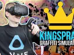 Graffiti Simulator In Virtual Reality Kingspray VR (HTC Vive)