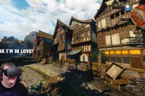 THE WITCHER 3 IN FIRST PERSON IN VR