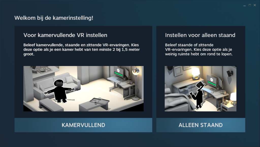 Set SteamVR for standing alone use