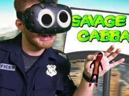 GIANT COP STOPPING GRAFFITI ARTISTS!   Giant Cop VR