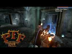 Killing Giant Spiders And Plundering Dungeons In VR Playing Prevent The Fall ( Oculus Rift + Touch)